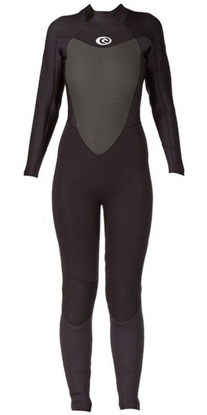 2019 Rip Curl Womens Omega 3/2mm Back Zip GBS Wetsuit WSM4LW Black