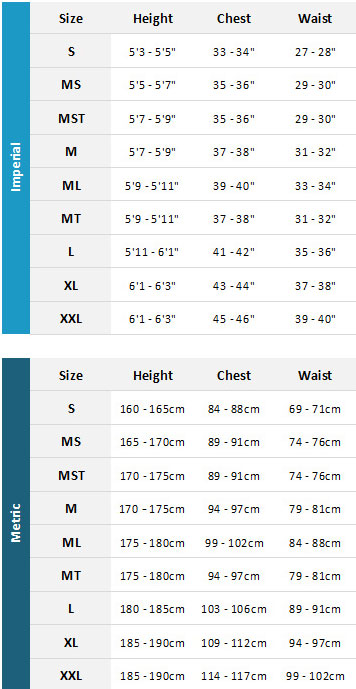 Animal Mens Wetsuits 19 Mens Size Chart