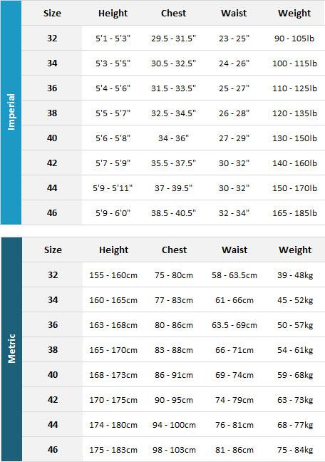 Billabong Womens Wetsuits 19 Womens Size Chart