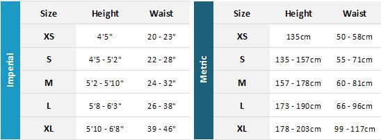Dryrobe Advance 19 0 Size Chart