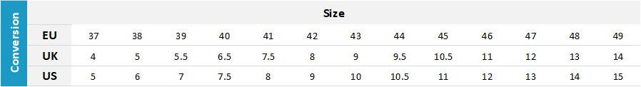 Gill Mens Footwear 19 0 Size Chart