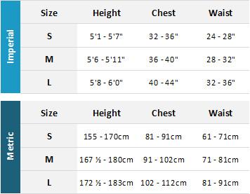 Gul Womens Drysuits 19 Womens Size Chart