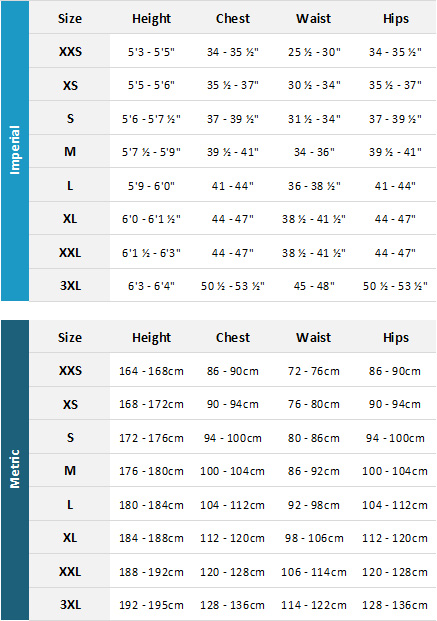 Helly Hansen Mens Marine Garments 19 Mens Size Chart