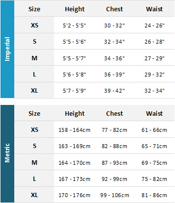 Mystic Womens Wetsuits 19 Womens Size Chart