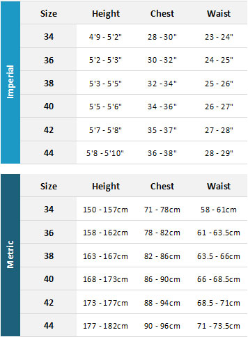 Ripcurl Womens Wetsuits 19 Womens Size Chart