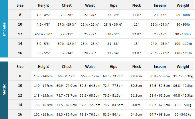 Roxy Junior Wetsuits 19 Womens Size Chart
